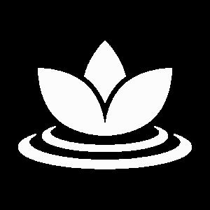 white wellness icon